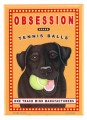 obsession black lab retro pet magnet
