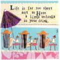 life is far too short magnet