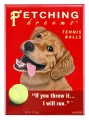 fetching dreams golden retriever retro pet magnet