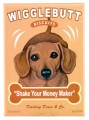 dachshund wigglebutt retro pet magnet